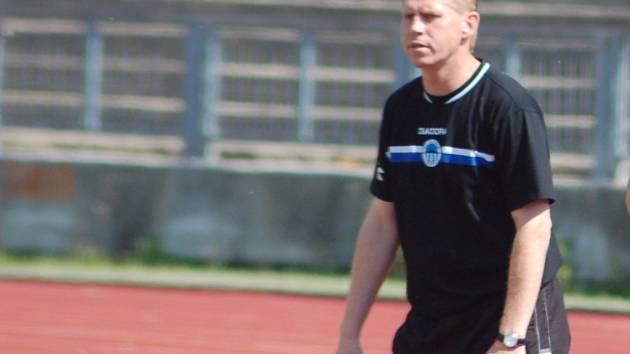 Trenér fotbalového staršího dorostu Slovanu Liberec Petr Bulíř.