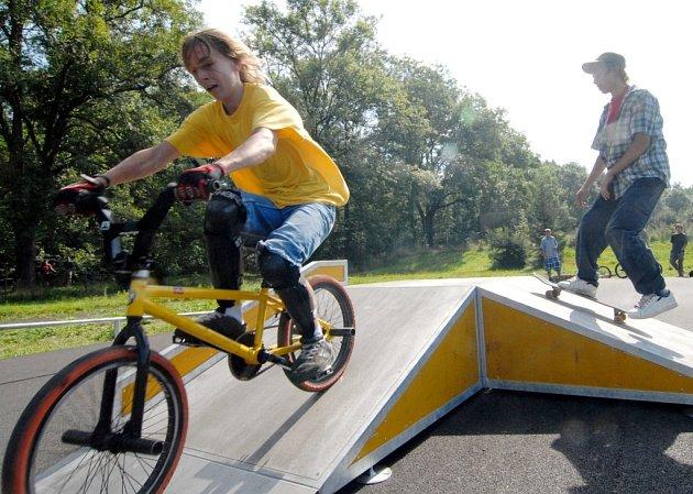 Nový skatepark v Semilech.