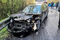 Hromadná dopravní nehoda u Jablonného v Podještědí..
