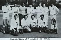 Z historie Tělovýchovné jednoty Sokol Ruprechtice. Na snímku: Ruprechtice I.B třída 1970.