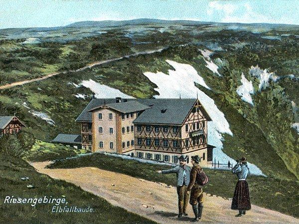 LABSKÁ ČILI ELBBAUDE. Takhle ji znali návštěvníci Krkonoš na přelomu 19.a 20.století.