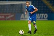 Zápas 8. kola první fotbalové ligy mezi týmy FC Slovan Liberec a 1. FC Slovácko se odehrál 25. září na stadionu U Nisy v Liberci. Na snímku Jan Mikula.