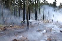 Lesní požár ve Studenci.