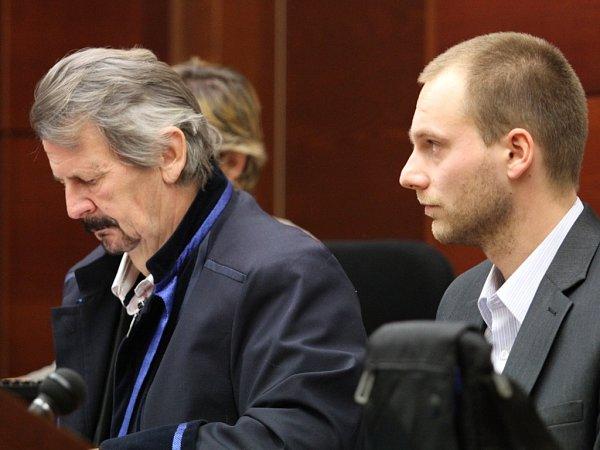 Obžalovaný Lukáš Musil na snímku vpravo.