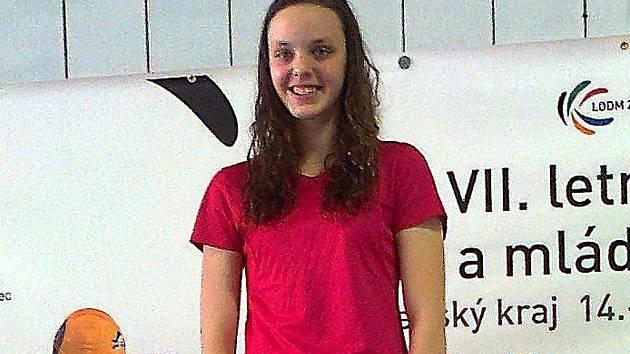 MATOŠKOVÁ. Znakařka Kateřina Matošková z SPK Liberec, vítězka obou startů na 100 i 200 metrů.