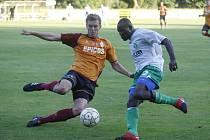 Vcelku solidní výsledek uhráli fotbalisté Nového Boru s třetiligovým týmem SK Hlavice, s nímž se střeli v úterý.