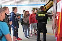 DEN S HASIČI NA LIBERECKÉ STANICI si užili žáci tří základních škol z Liberecka.
