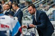Utkání 18. kola Tipsport extraligy ledního hokeje se odehrálo 14. listopadu v liberecké Home Credit areně. Utkaly se celky Bílí Tygři Liberec a PSG Berani Zlín. Na snímku je trenér Filip Pešán.