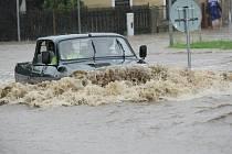 Tak vypadala povodeň v Hrádku