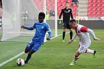 MOL cup, čtvrtfináleSlavia Praha - Slovan Liberec, zleva: Murphy Dorley (L) a Jan Bořil (S).