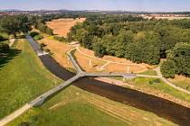 Vizualizace mostu, který by měl vzniknout v Trojzemí nedaleko Hrádku nad Nisou.