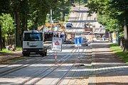 Liberec je v sevření mnoha dopravních uzavírek. Na snímku situace z 18. července.