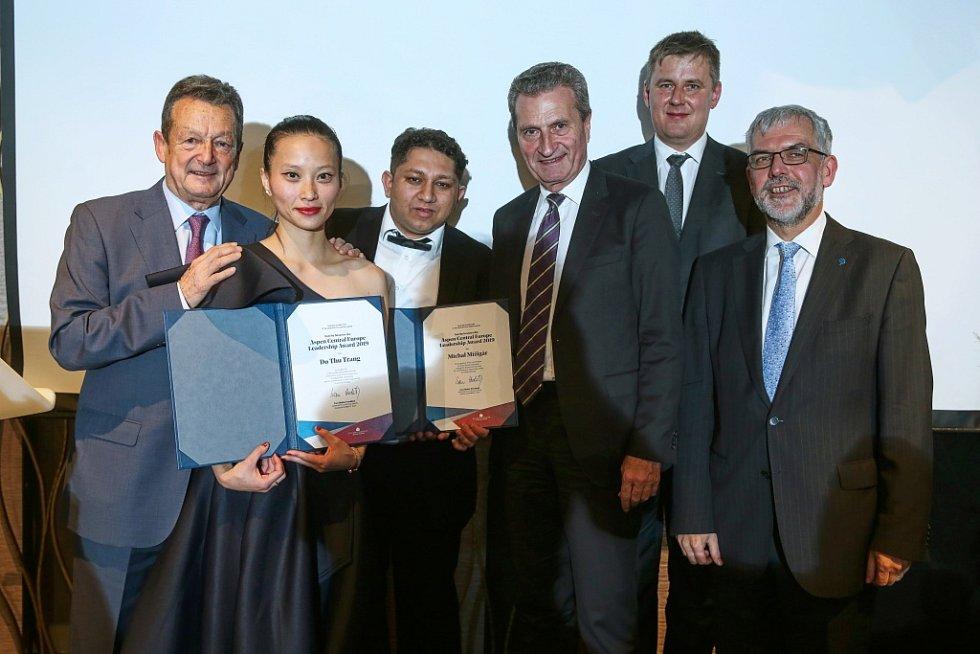 Předávání ceny Aspen Central Europe Leadership Award.