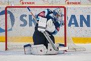 Utkání 23. kola Tipsport extraligy ledního hokeje se odehrálo 19. listopadu v liberecké Home Credit areně. Utkaly se celky Bílí Tygři Liberec a HC Kometa Brno. Na snímku je brankář Jaroslav Janus.