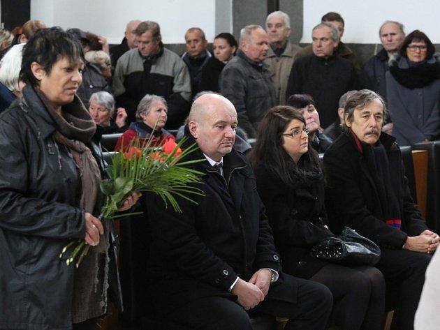 Pohřeb Františka Peterky.