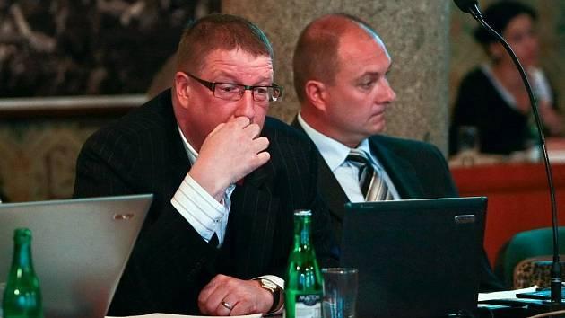 Tomáš Hampl (vpravo) vedle svého předchůdce v čele liberecké ODS Jiřího Kittnera.