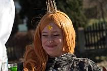 Oslavy masopustu v Habarticích na Frýdlantsku, které pravidelně pořádají místní hasiči, byly letos na téma pyšné princezny.