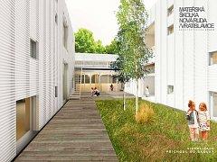 Novou mateřskou školku podle návrhu architekta Petra Stolína otevřou ve Vratislavicích v září.