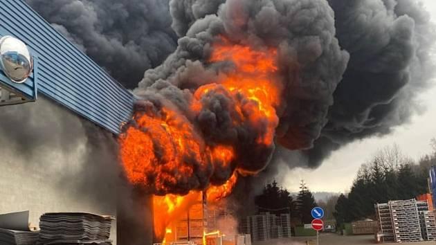 Požár v Chrastavě.