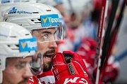 Utkání 9. kola Tipsport extraligy ledního hokeje se odehrálo 1. října v liberecké Home Credit areně. Utkaly se celky Bílí Tygři Liberec a HC Dynamo Pardubice. Na snímku je Petr Čáslava.