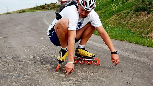 Vesecká trať, na které se dnes má jet závod Bohemia Inline 2008, není podle některých závodníků ideální.