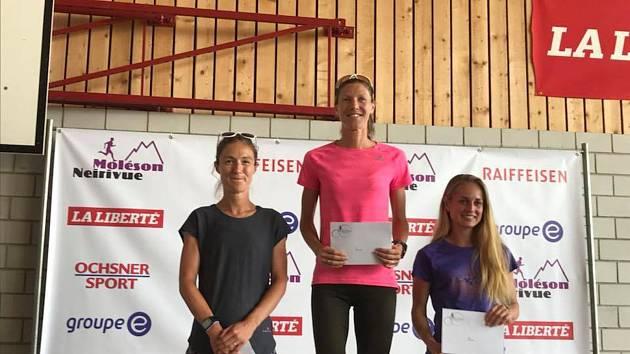 Pavla Schorná (vpravo) obsadila ve Švýcarsku třetí místo.