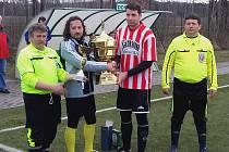 Cennou trofej do své sbírky přidali fotbalisté Kunžaku, kteří triumfovali v zimním Českém poháru.