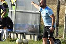 Trenér včelnických fotbalistů Radek Vajda.