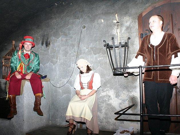Noční prohlídky jindřichohradeckého zámku.
