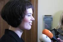 Soudní jednání o vrácení Schwarzenberské hrobky dědičce Alžbětě Pezoldové. Na snímku je mediální zástupkyně rodiny Martina Pařízková.