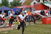 Velká cena Třeboňska v požárním útoku pokračovala soutěží v Mníšku.