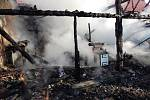 Požár domu v Ponědraži na Silvestra.