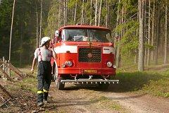 Při požáru lesa ve Vlastkovci zasahovali i dobrovolní hasiči ze Starého Města pod Landštejnem.