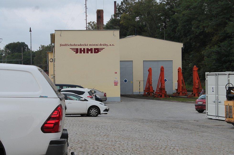 Nádraží Jindřichohradeckých místních drah.