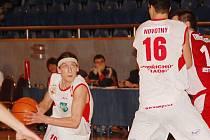 Momentka ze zápasu J. Hradec - Chomutov.