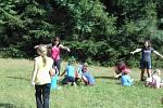 Děti si užívaly léto na letním táboře v Radíkově.