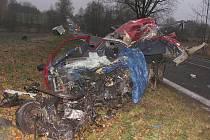 Tragická nehoda u Stráže nad Nežárkou.