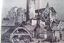 NEJSTARŠÍ část jindřichohradeckého hradu s bednářskou dílnou v popředí.