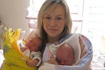 Eliška a Adam Svobodovi z Jindřichova Hradce se narodila 21. června 2013 Zuzaně a Renému Svobodovým. Vážila 2740 a 2340 gramů a měřili 47 a 46 centimetrů.