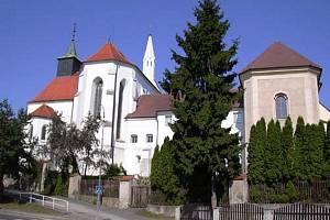 Kostel svatého Jana Křtitele v Jindřichově Hradci.