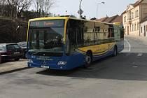 Autobus MHD v Jindřichově Hradci.