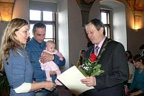 První vítání občánků v roce 2014 v Jindřichově Hradci.