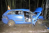 Náraz do stromu nepřežil řidič osobního vozidla.