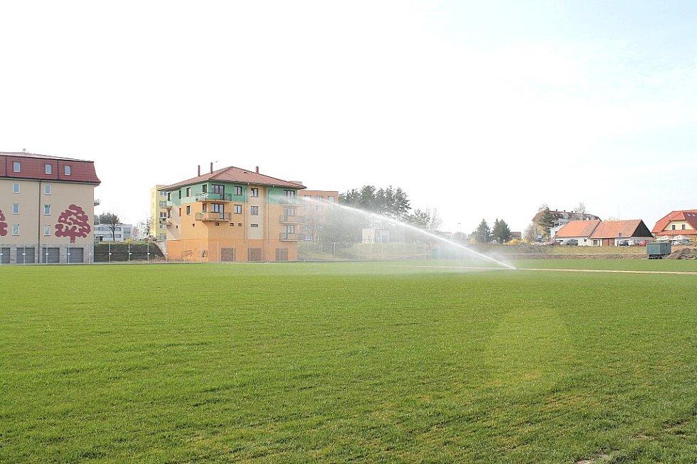 Fotbalové hřiště v Třeboni. Ilustrační foto.