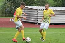 Jindřichohradečtí fotbalisté Martin Janák (vlevo) a Martin Toman.