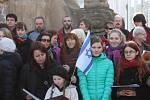 Vzpomínka obětem holocaustu v J. Hradci.