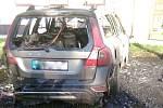 Požár auta v Kardašově Řečici.