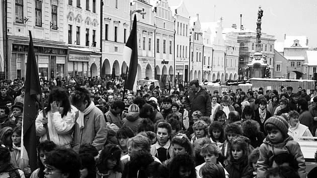 Generální stávka před pětadvaceti lety v Třeboni.