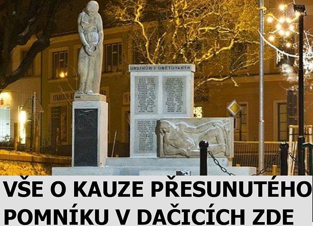 Pouták - dačický pomník.