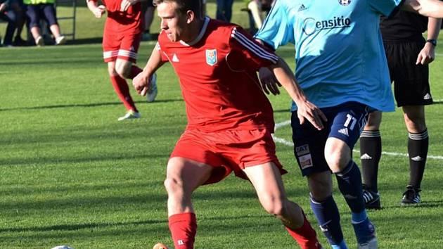Ladislav Vávra vstřelil poslední gól Třeboně v sezoně, který znamenal remízu v Českém Krumlově.
